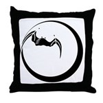 Moon and Bat Throw Pillow