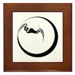 Moon and Bat Framed Tile