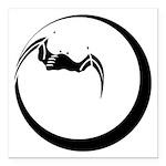 Moon and Bat Square Car Magnet 3