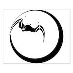 Moon and Bat Small Poster