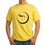 Moon and Bat Yellow T-Shirt