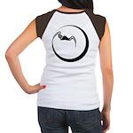 Moon and Bat Women's Cap Sleeve T-Shirt