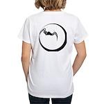 Moon and Bat Women's V-Neck T-Shirt