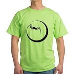 Moon and Bat Green T-Shirt