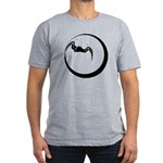 Moon and Bat Men's Fitted T-Shirt (dark)