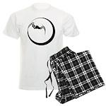 Moon and Bat Men's Light Pajamas
