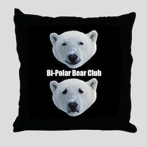 Bi Polar Bear Club Throw Pillow
