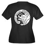 Nichirenshu dragon Women's Plus Size V-Neck Dark T