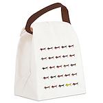 Dachshunds Tiles Canvas Lunch Bag