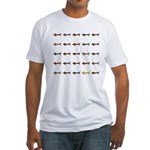 Dachshunds Tiles Fitted T-Shirt