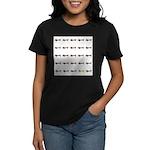 Dachshunds Tiles Women's Dark T-Shirt