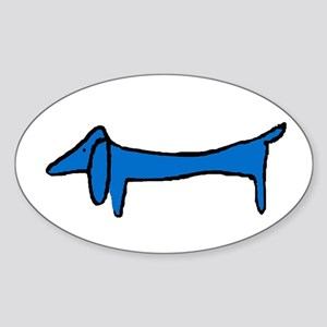 Famous Blue Dog Sticker (Oval)
