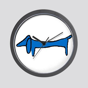 Famous Blue Dog Wall Clock