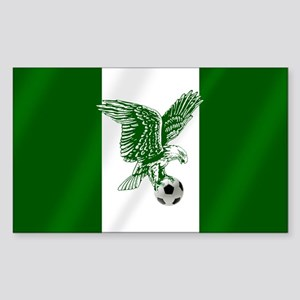 Nigerian Football Flag Sticker (Rectangle)