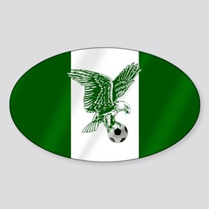 Nigerian Football Flag Sticker (Oval)