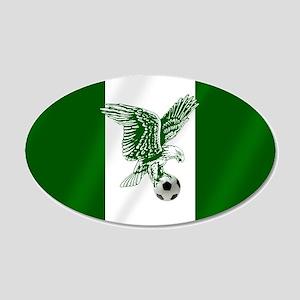Nigerian Football Flag 20x12 Oval Wall Decal