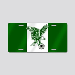 Nigerian Football Flag Aluminum License Plate