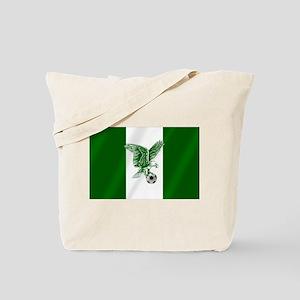Nigerian Football Flag Tote Bag