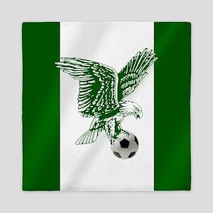 Nigerian Football Flag Queen Duvet