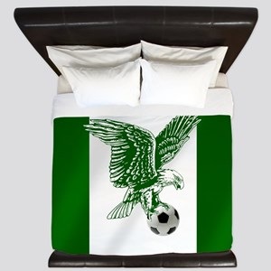 Nigerian Football Flag King Duvet