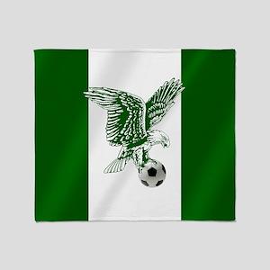 Nigerian Football Flag Throw Blanket