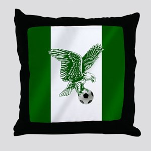 Nigerian Football Flag Throw Pillow
