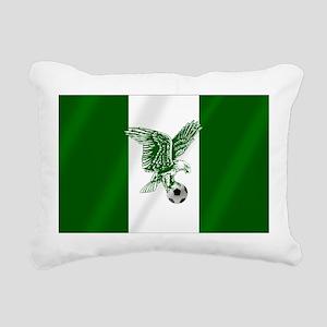 Nigerian Football Flag Rectangular Canvas Pillow