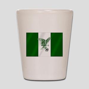 Nigerian Football Flag Shot Glass