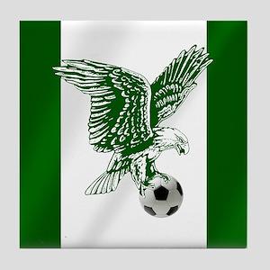 Nigerian Football Flag Tile Coaster