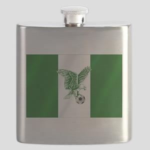Nigerian Football Flag Flask
