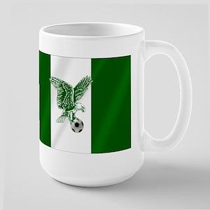 Nigerian Football Flag Large Mug