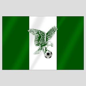 Nigerian Football Flag Large Poster