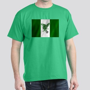 Nigerian Football Flag Dark T-Shirt