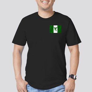 Nigerian Football Flag Men's Fitted T-Shirt (dark)