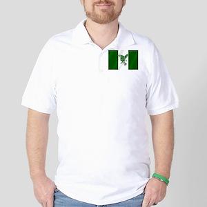 Nigerian Football Flag Golf Shirt