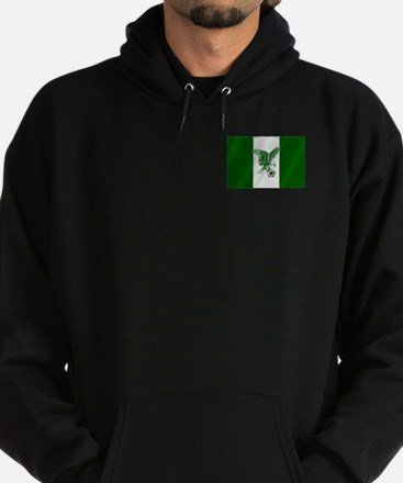 Nigerian Football Flag Hoodie (dark)
