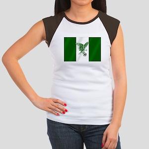 Nigerian Football Flag Women's Cap Sleeve T-Shirt