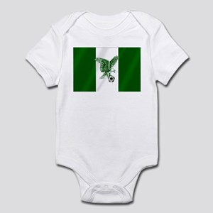 Nigerian Football Flag Infant Bodysuit