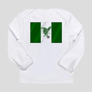 Nigerian Football Flag Long Sleeve Infant T-Shirt