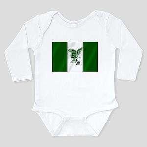 Nigerian Football Flag Long Sleeve Infant Bodysuit
