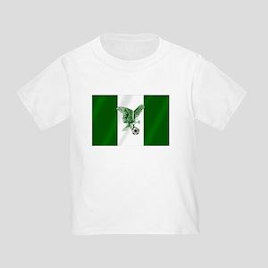 Nigerian Football Flag Toddler T-Shirt