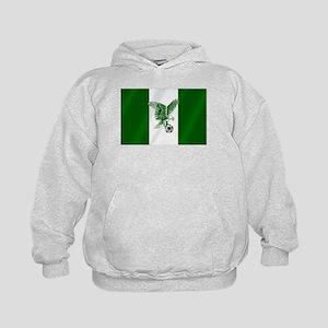 Nigerian Football Flag Kids Hoodie