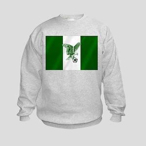 Nigerian Football Flag Kids Sweatshirt