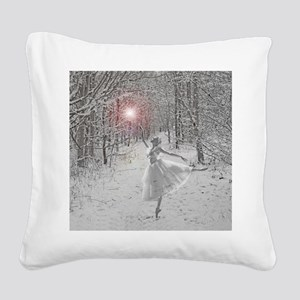 The Snow Queen Square Canvas Pillow