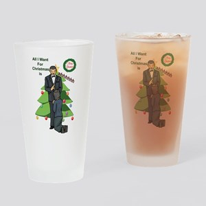 Christmas Wishes Drinking Glass