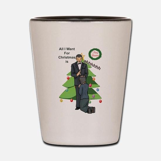 Christmas Wishes Shot Glass