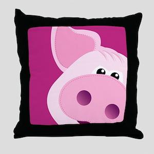 Happy Piggy Throw Pillow