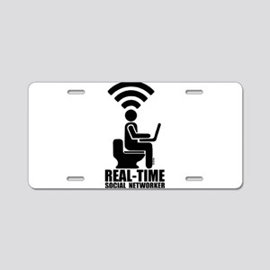 Real-time social networker Aluminum License Plate