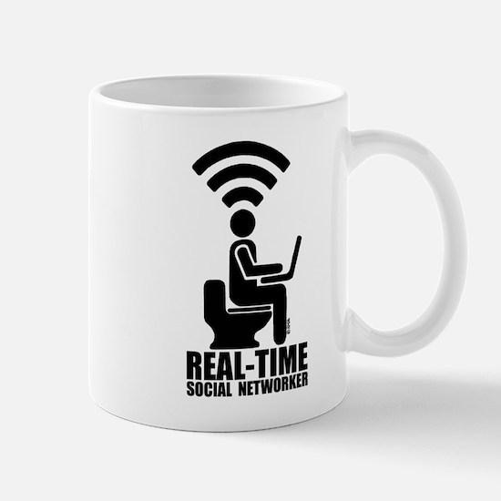 Real-time social networker Mug