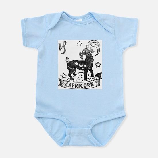 CAPRICORN Retro Astrology Baby Infant Bodysuit